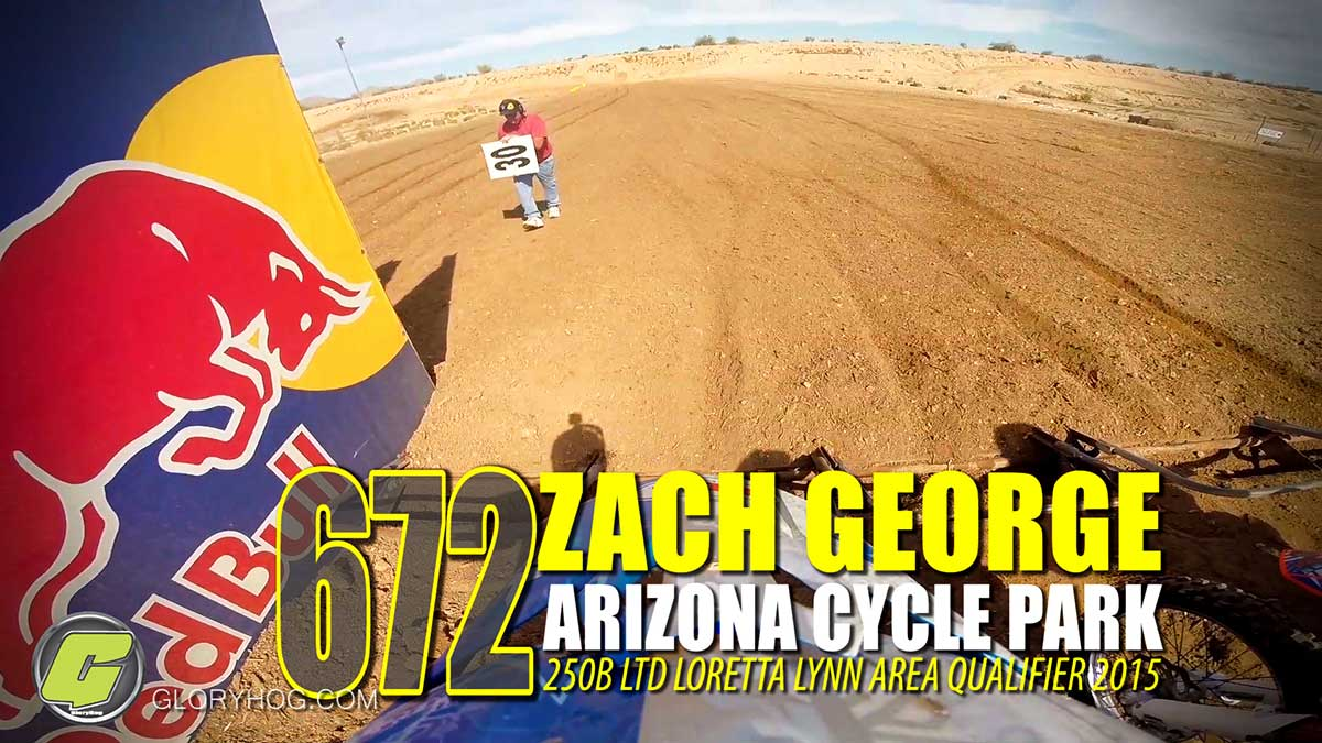 Helmet Cam: Zach George Arizona Cycle Park LLQ 250B Ltd