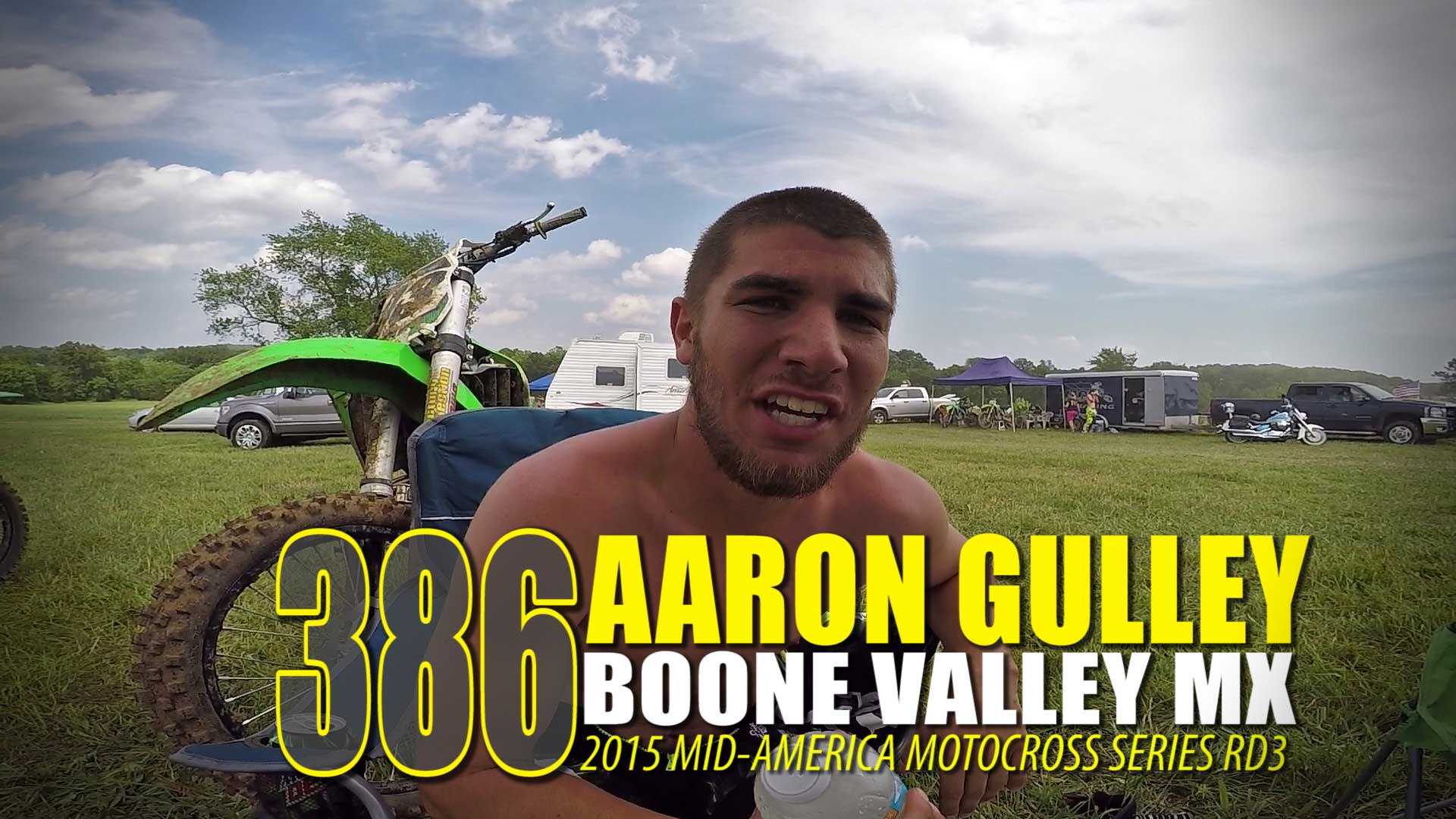 CHEST CAM: Aaron Gulley 250A Boone Valley MX Moto 2