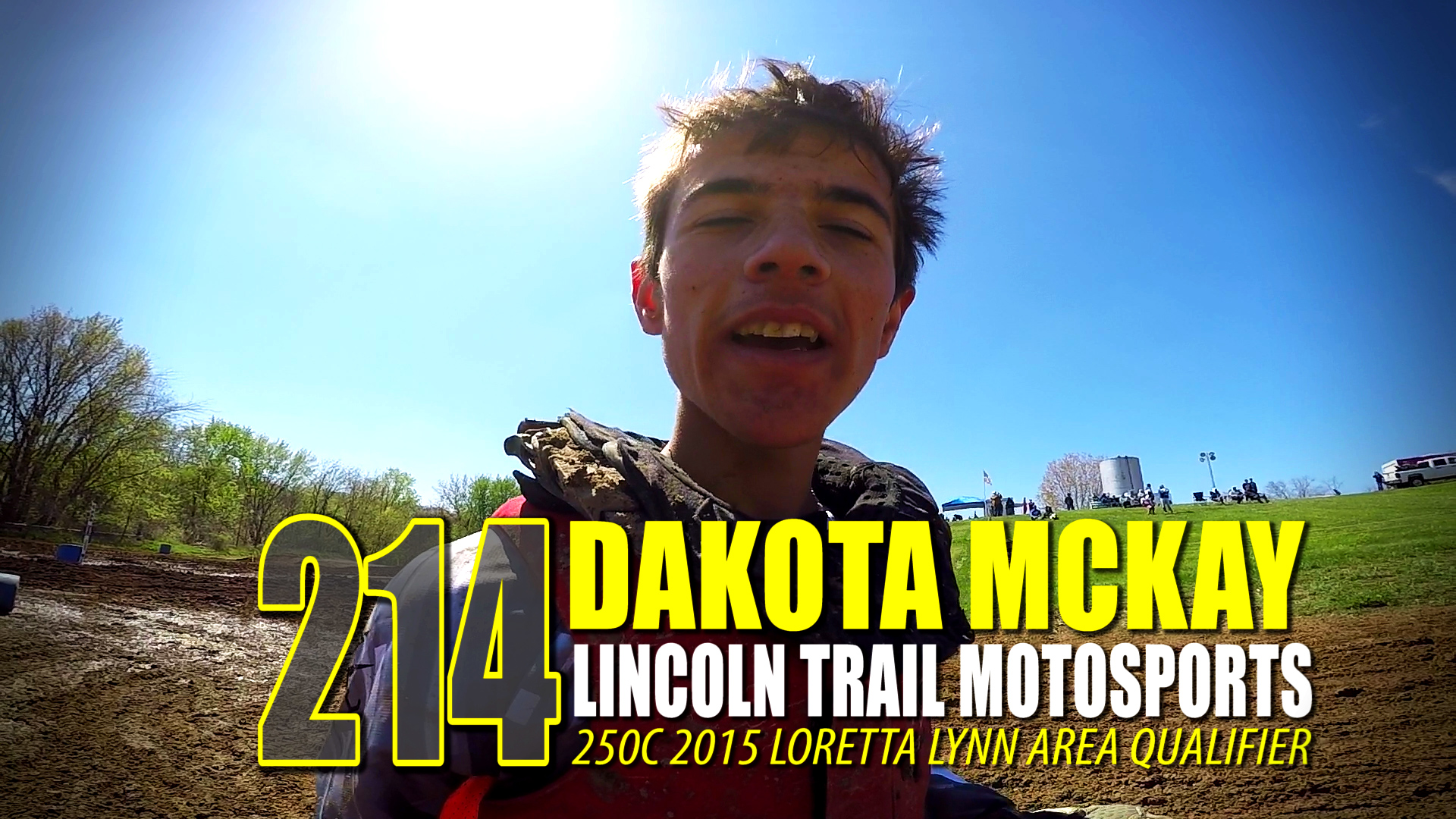 HELMET CAM: Dakota McKay 250C Lincoln Trail LLAQ - Backwards