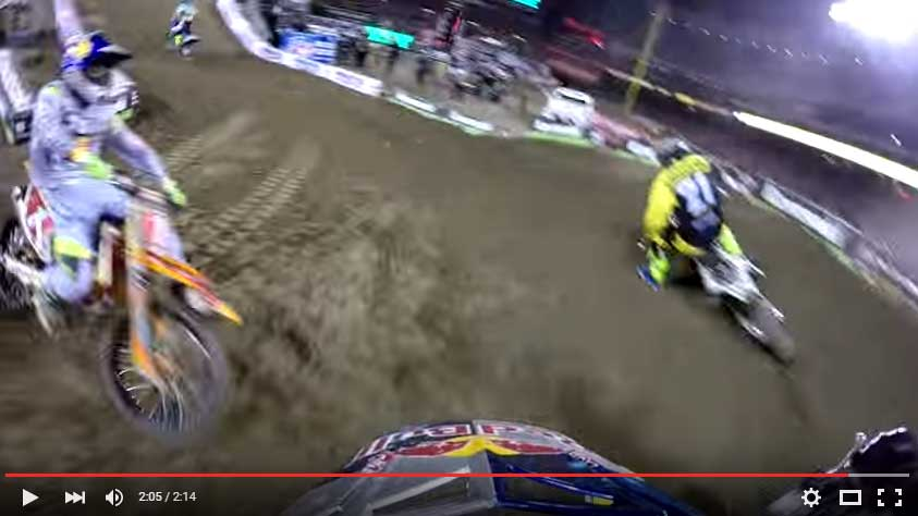 James Stewart Main Event Crash with Ryan Dungey 2016 Monster Energy Supercross from Anaheim 1