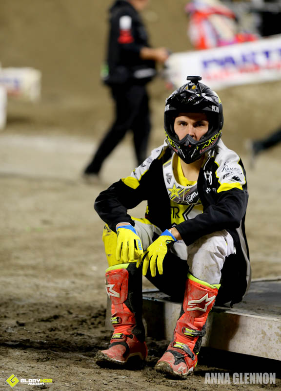 DQ'd, Jason Anderson literally sits out the remainder of the evening races.