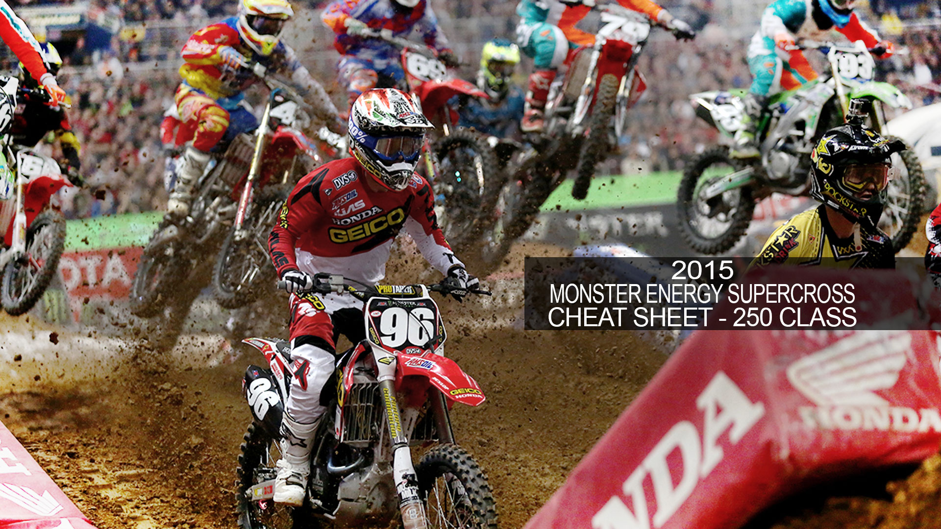 2015 Monster Energy Supercross Cheat Sheet - 250 Lites Class