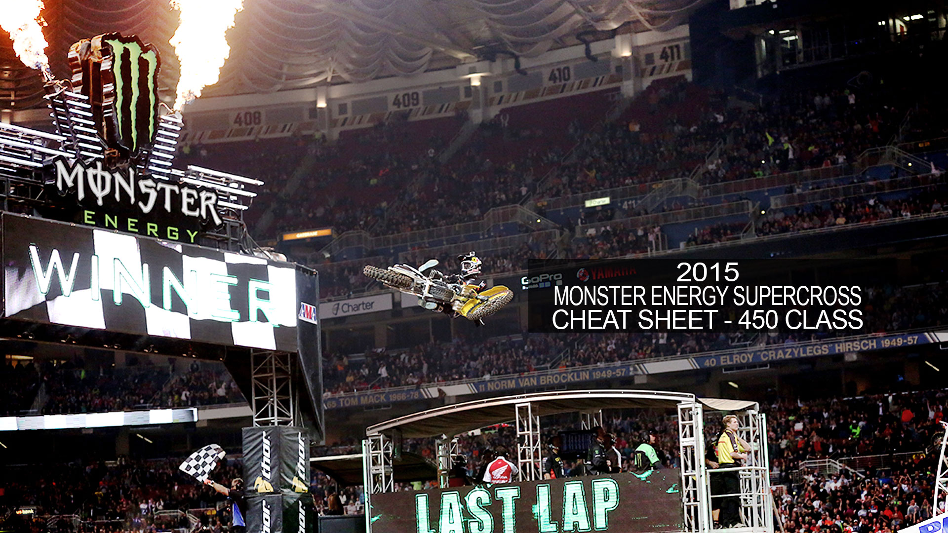 2015 Monster Energy Supercross Cheat Sheet - 450 Class